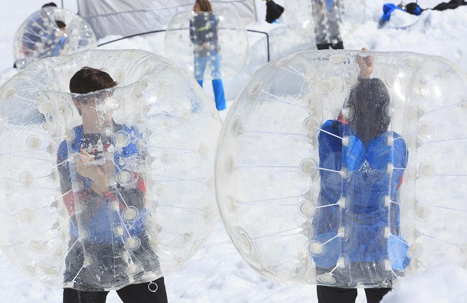 Bubble bump teambuilding Grenoble