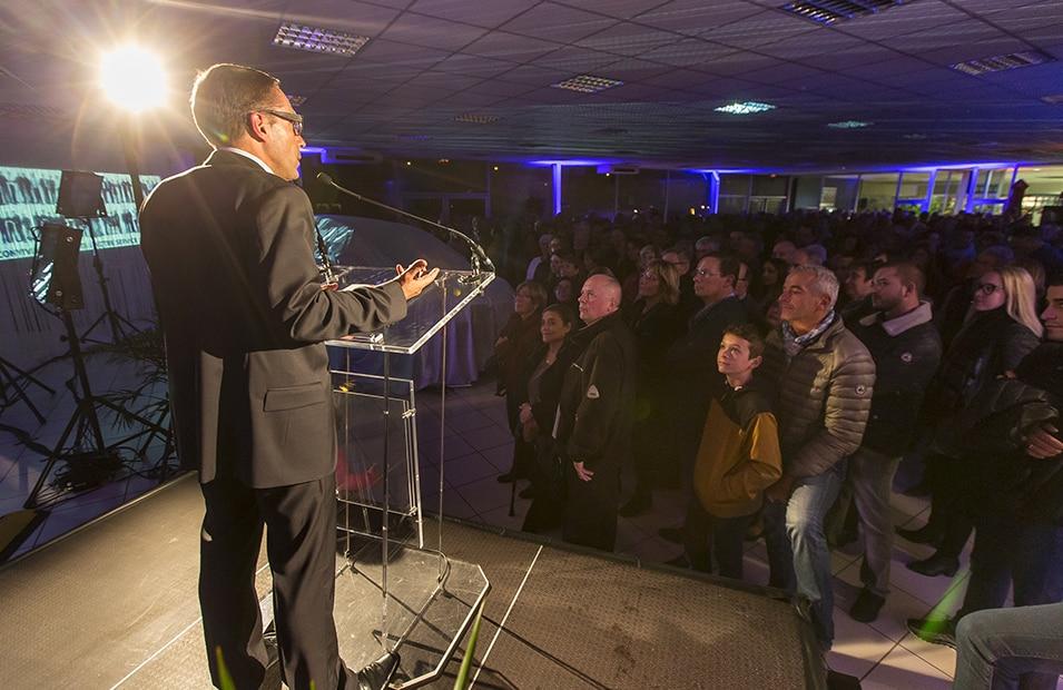 Organisation discours dans un événement à Grenoble